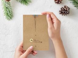 """""""Początek i koniec"""". Kartka bożonarodzeniowa. - Przyklejeni"""