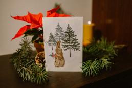 """Kartka Bożonarodzeniowa """"Wszystko stworzenie śpiewaj Panu swemu"""""""
