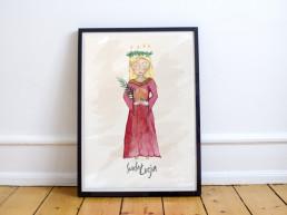 Święta Łucja - ilustracja do pobrania