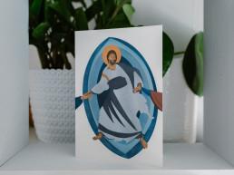 Kartka Wielkanocna - Jezus Zmartwychwstały